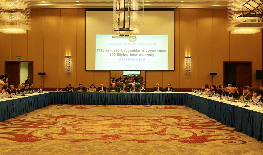 The Council held a conference on the 100th anniversary of the genocide of Azerbaijanis in 1918